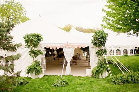 wedding reception in backyard tented backyard wedding reception elizabeth designs