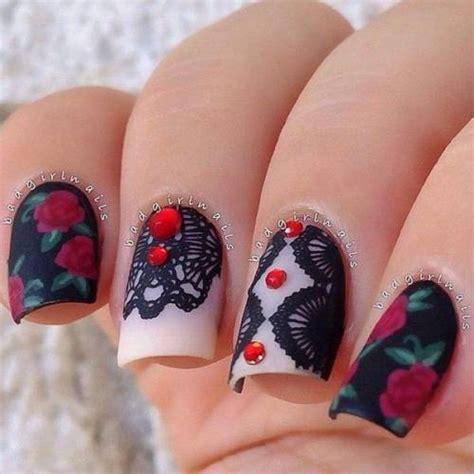 imagenes uñas acrilicas 2016 60 unhas decoradas com rosas fotos e tutoriais