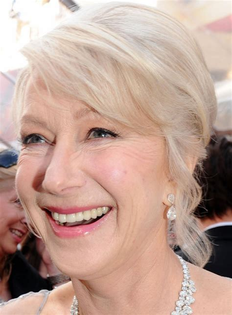 helen mirren cuts hair elegant hairstyles helen mirren s elegant chignon hairstyle at 2010 oscars
