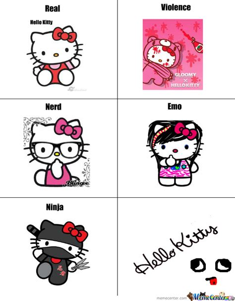 Hello Kitty Meme - real into others hello kitty by recyclebin meme center