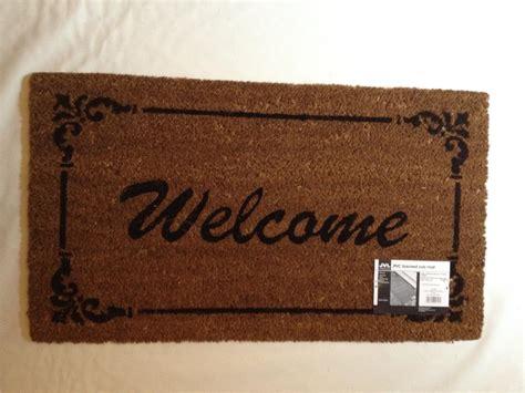 Large Outdoor Doormats Large Welcome Door Mat Indoor Outdoor 100 Coir Floor