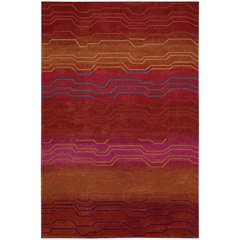 Area Rugs Overstock Nourison Overstock Contour Sunburst 8 Ft X 10 Ft 6 In Area Rug 046253 The Home Depot