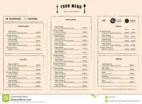 menu sle template restaurant menu design template layout with logo stock