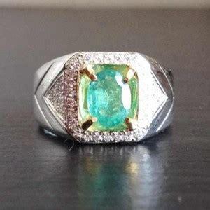Emerald Ring Memo cincin zamrud asli silver 925 exclusive design by han s