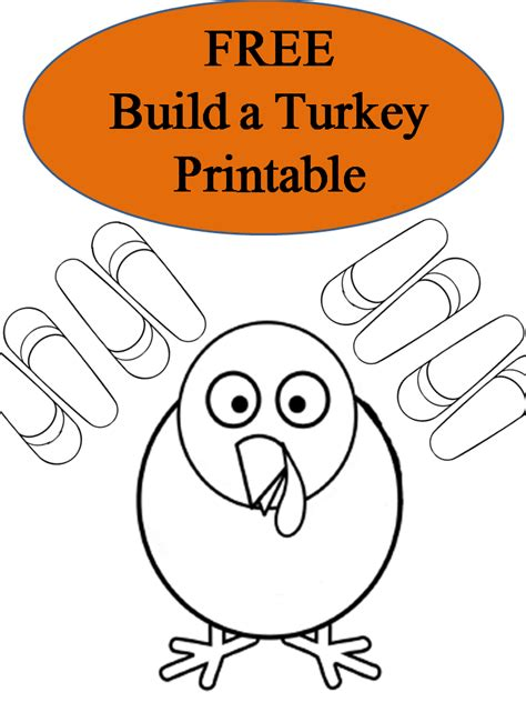 Free Printable Turkey Template by Free Printable Build A Turkey Booklet Surviving A