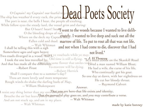Dead Poets Society Essay Topics by Dead Poet S Society Quotes Quotesgram