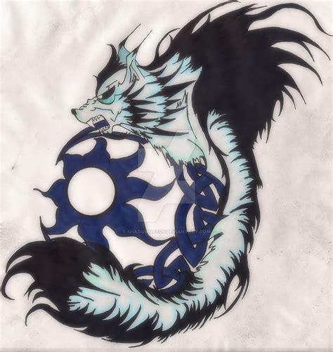 fenrir tattoo fenrir celtic wolf on leg by darksuntattoo
