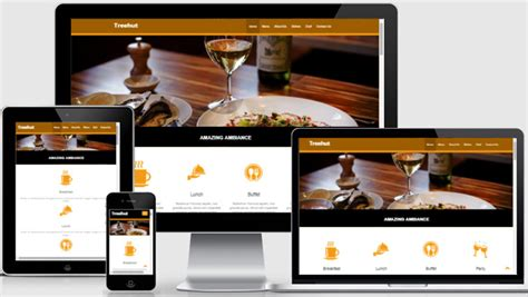bootstrap templates for restaurant free restaurant template hotel web theme webthemez com