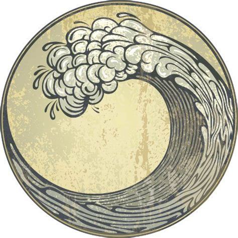 Japanese Style Water Decal M378 1487 best graphic sea waves water images on