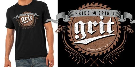 grit vintage label t shirt design by grit mintees