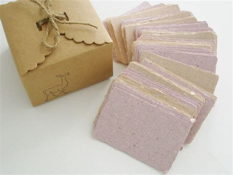 Handmade Paper Visiting Cards - handmade recycled paper with llama poo business cards