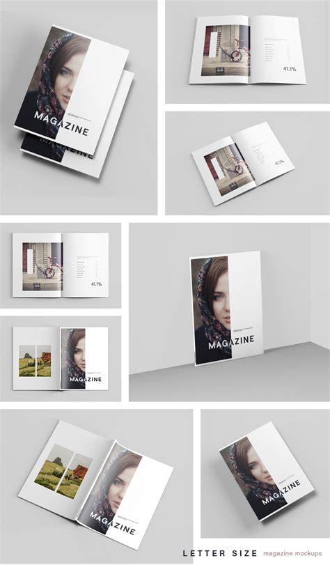 magazine layout mockup letter size magazine mockup free design resources