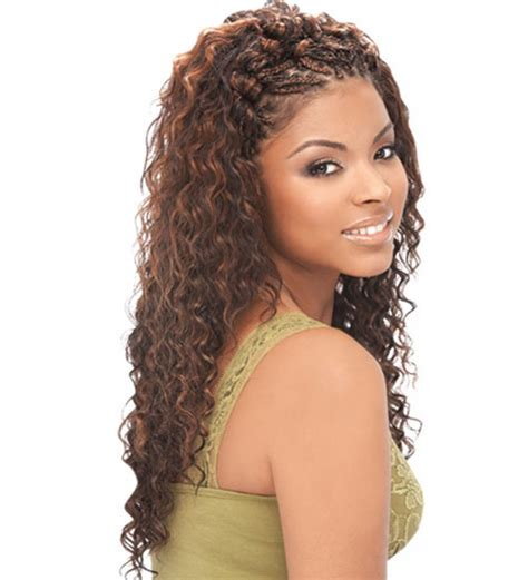 curly sew in with braids deep wave braids hairstyles fade haircut