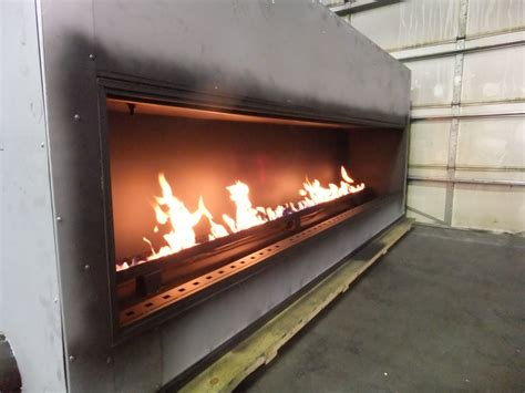 test custom linear gas fireplace acucraft fireplaces