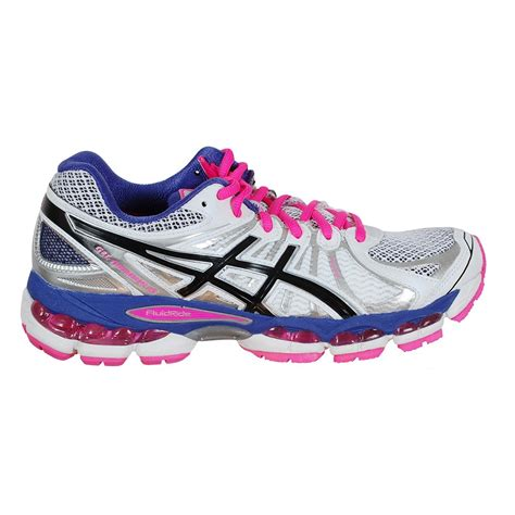 asics running shoes asics gel nimbus 15 s running shoe white purple