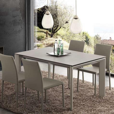 lade da tavolo classiche ceramica tavolo allungabile piano vetro ceramica 140x90 cm duarte