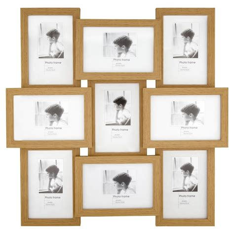 light wood picture frames light wood effect multi aperture photo frame9 x 6 x 4in