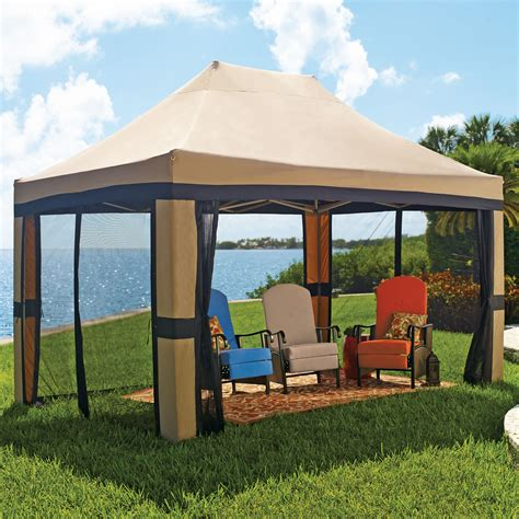 screen gazebo oversized 10 x 15 instant pop up gazebo with screen