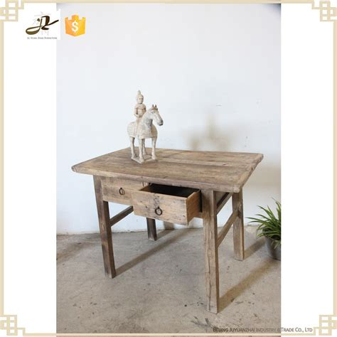 buffet table with drawers antique small simple solid elm wood dining room