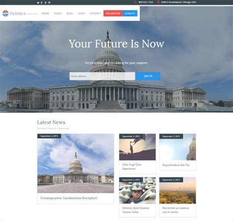free templates for government website 21 political website themes templates free premium