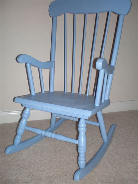 Homemade Rocking Chair brown turquoise diy baby rocking chair