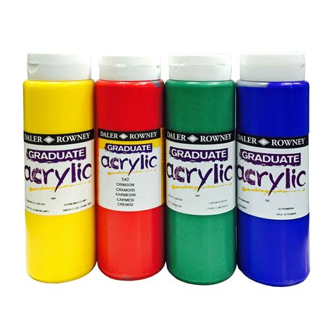 acrylic paints daler rowney graduate acrylic 500ml color chart