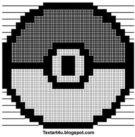 font design copy and paste pokeball copy paste ascii text art cool ascii text art 4 u