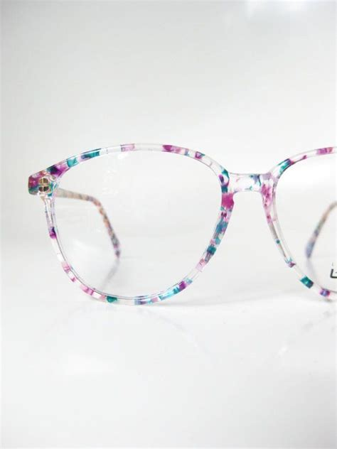 colorful glasses 1980s vintage l glasses colorful confetti eyeglasses