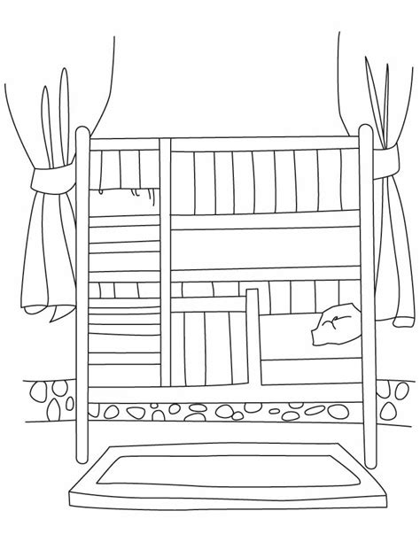 page bedding bunk beds colouring pages