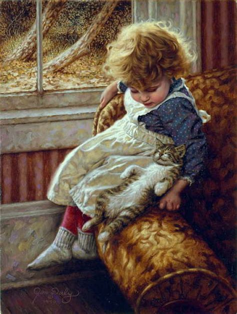 children s painting cat cat and paintings contentment jim daly