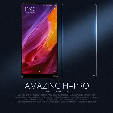 Clear Tempered Glass Xiaomi Mi Mix nillkin amazing h pro tempered glass screen protector for xiaomi mi mix 2 2s
