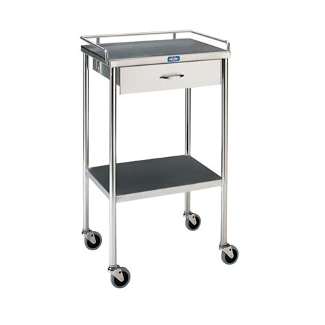 stainless steel utility table with one drawer pedigo sg 80 ss