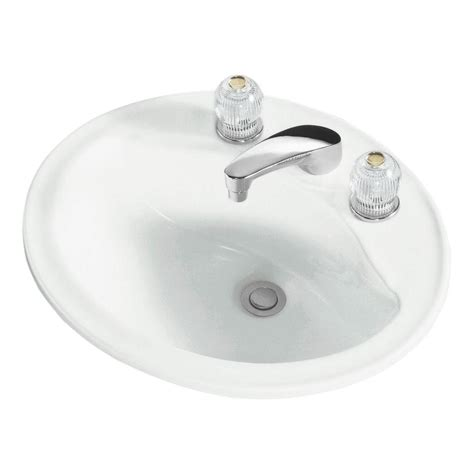 ceramic drop in bathroom sinks sterling sanibel drop in ceramic oval bathroom in