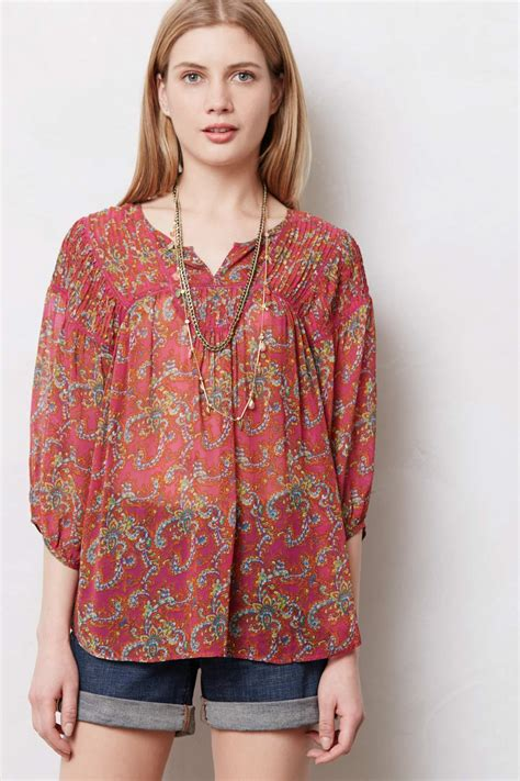 Blouse Peasant anthropologie inspired highststyle