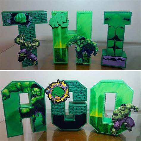 letras decoradas hulk letras 3d hulk elo7