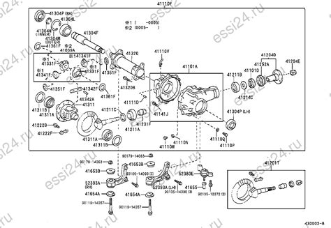 Landcruiser Swivel Hub Diagram