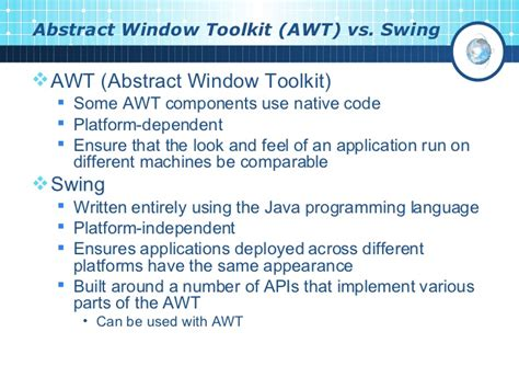 swing vs awt in java gui programming in java