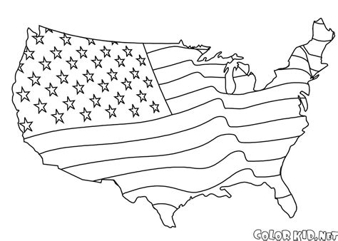 coloring book page of the united states coloring page the united states of america
