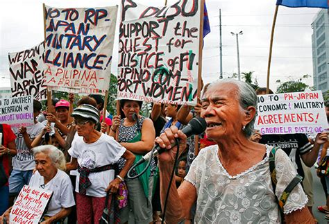 philippines comfort women comfort women seek apology from japan pm abe anew