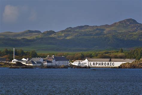 Laphroaig distillery from the evening ferry, Isle of Islay