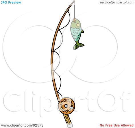 royalty free rf clipart illustration of a fish caught on