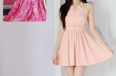 Chain Halter Gown Pink Blue Size Sml walktrendy review pink halter dress white high low dress eat my knee socks