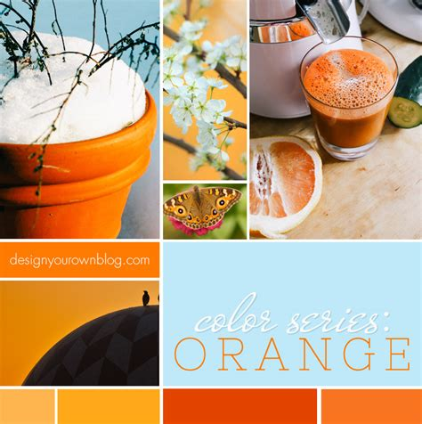 hues of orange color for bloggers