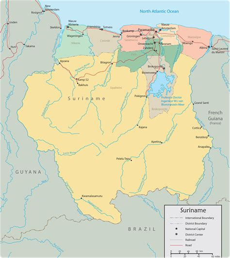 where is suriname on a map map of suriname paramaribo