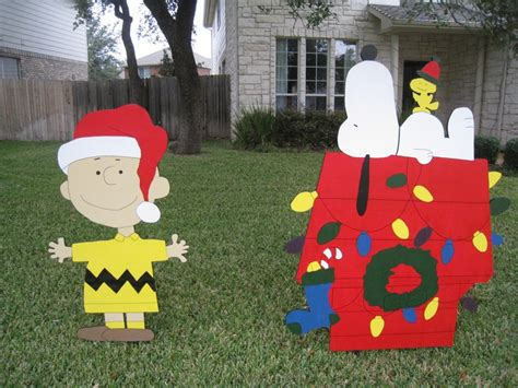 snoopy christmas yard decor holidays pinterest