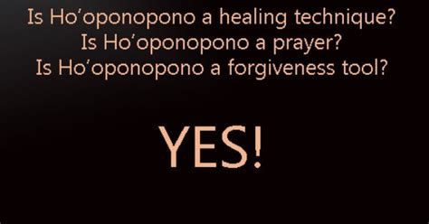 hawaiian energy healing technique of ho oponopono is ho oponopono a healing technique yes prayer yes