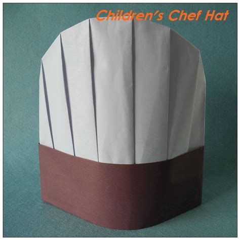 How To Make A Chef Hat With Paper - white brown paper chef hat 23cm 9 quot disposable paper