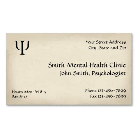 Business Card Templates For Psychologists by Psychiatrist Mental Health Business Card