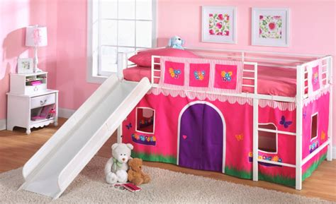 toddler bed with slide essential home slumber n slide curtain fire truck home
