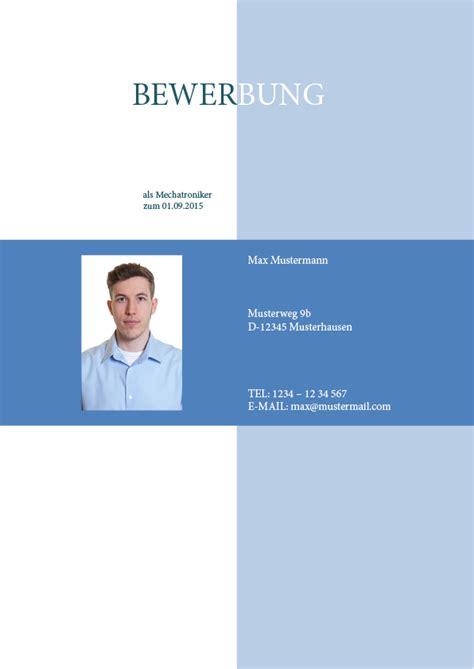 Deckblatt Vorlagen Blau Bewerbung Professionell Schreiben Lassen